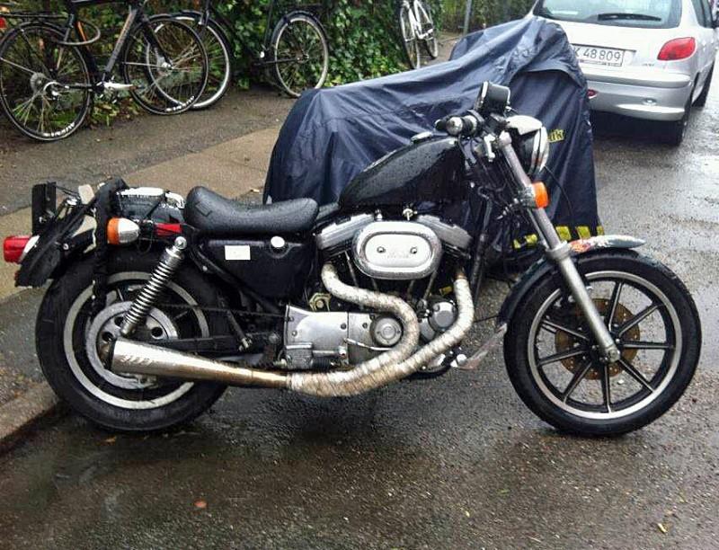 Efterlysning – Harley-Davidson XLH 1200 Sportster stulen i Köpenhamn