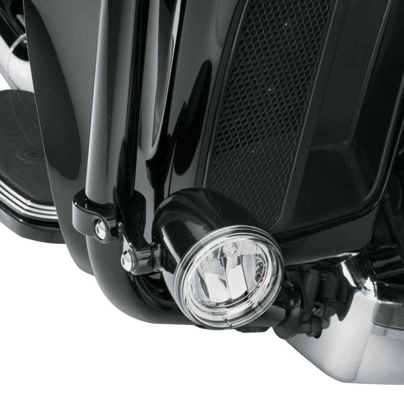 Harley-Davidsons dimljus