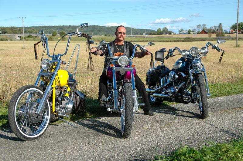 Kurt Perssons tre H-D från BigTwin 7, 2006
