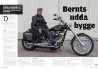 Reportage om Bernt Nordenståhls finurliga Softail-bygge i BigTwin 5/2016