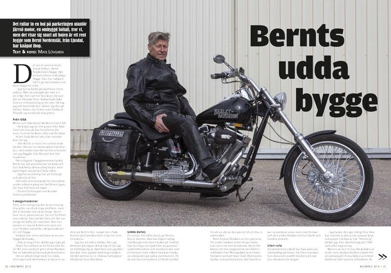 Bernt Nordenståhls Softail-bygge i BigTwin 5/2016