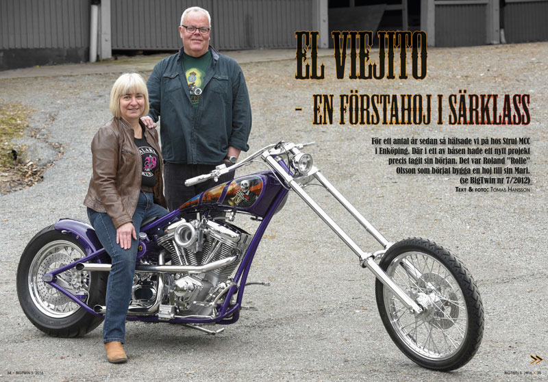 Reportage om Maris coola El Viejito i BigTwin 5/2016