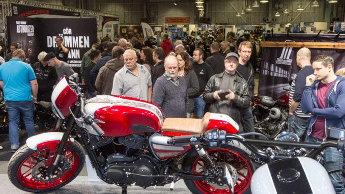 I Harley-Davidsons monter på MC-mässan stod också Sveriges tre bidrag till årets Battle of Kings, två caféracers och en Scrambler.
